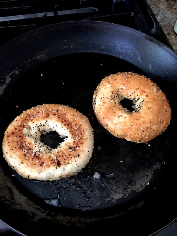 Toasted Bagels Cooking Sustainably